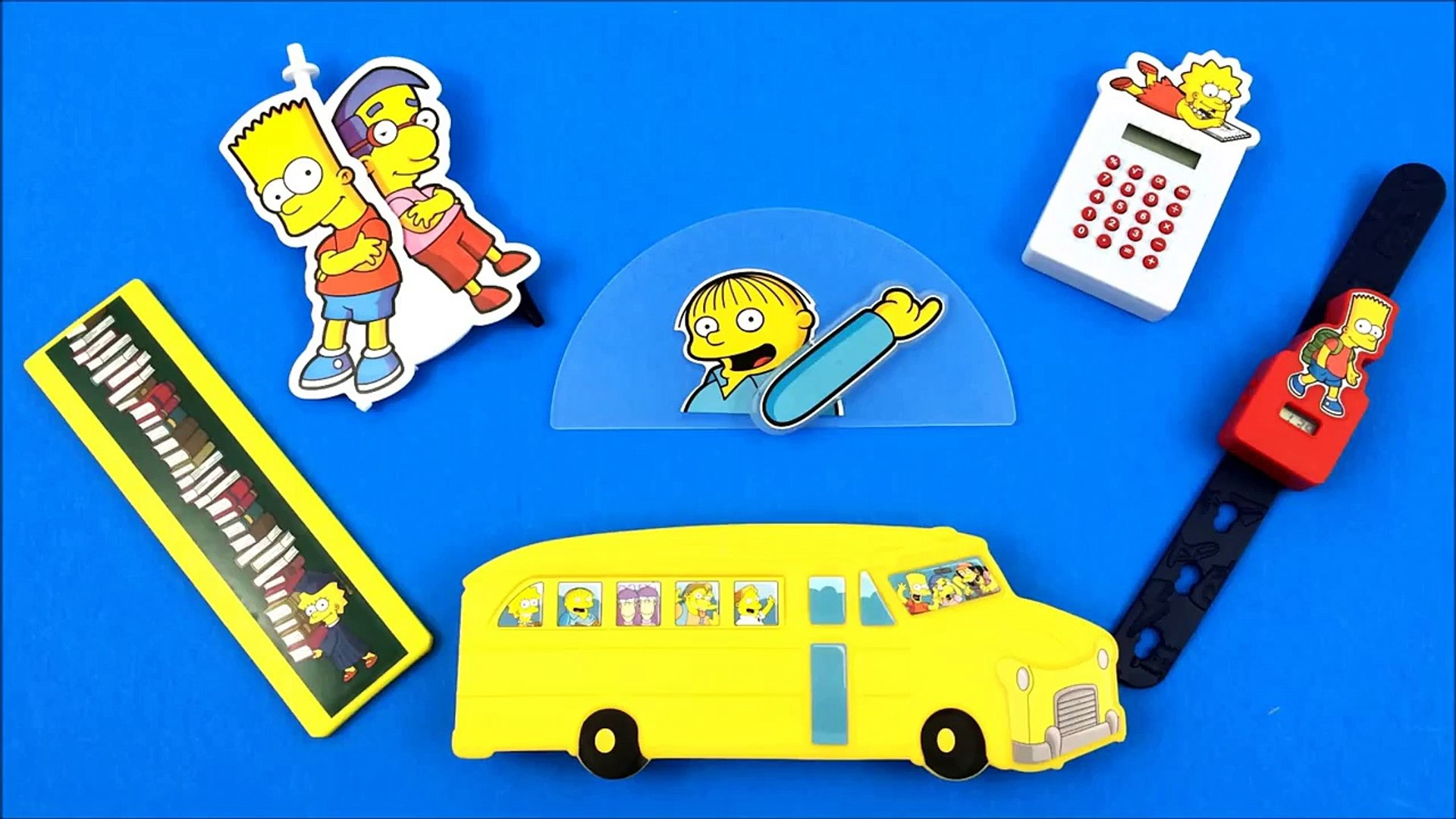 Ottos School Bus Pencil Case 2015 Burger King Simpsons Back To School Toy 4 Set 6 Kids Meal Toys Dailymotion Video