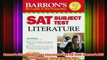 Download PDF  Barrons SAT Subject Test Literature with CDROM Barrons SAT Subject Test Literature FULL FREE