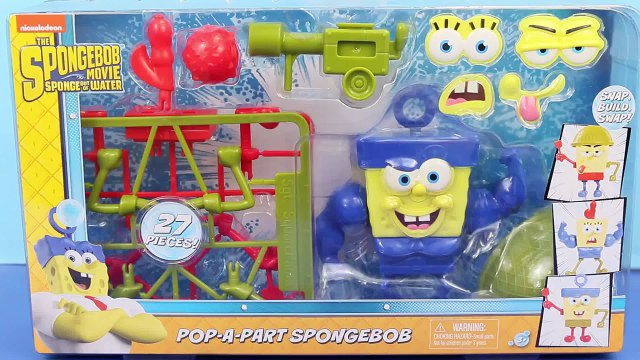 SpongeBob SquarePants SPONGE OUT OF WATER Movie TOY Pop-A-Part Building Play Set by DisneyCarToys