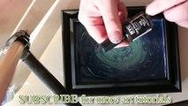 Comment peindre la vitre d'un cadre avec du vernis à ongles ?