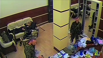 Azov Battalion Defeats Unarmed Office Workers, Tries to Celebrate but Can't Open Wine Bottle