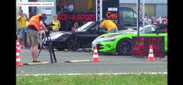 Porsche  911 TURBO vs Dodge VIPER Drag Race 1/4 Acceleration Quarter Mile
