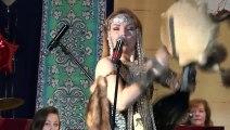 Russian Olga Pidluzhnaya Imitates animal Sounds during a performance WTF