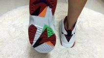 Nike Air Jordan 7 Retros Hare on Feet Review from repmallsneaker