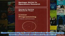 FREE PDF   Linear Programming 2 Theory and Extensions Springer Series in Operations Research and FULL DOWNLOAD