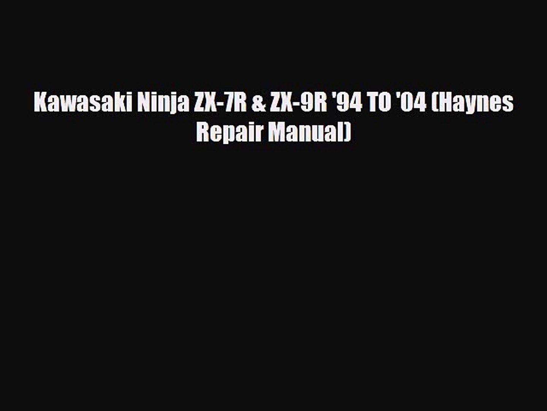 Kawasaki Ninja ZX-7R /& ZX-9R 94 to 04