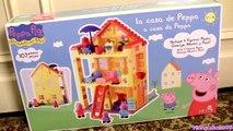 Peppa Pig Blocks Mega House Construction Set - Juego de Construcciones Playset con Mamá Papá Cerdita