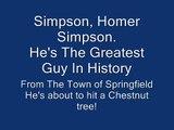 Homer Simpson Sings The Flinstones Theme
