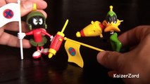 Daffy Duck & Marvin the Martian Action Figures in Duck Dodgers in the 24 1/2th Century