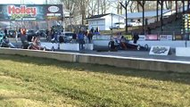 Dragsters drag racing at Beech Bend