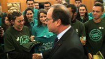 Le Président de la République rencontre des jeunes de l'enseignement agricole