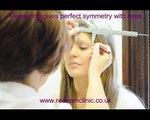 HD Augenbrauen, Haare Haare Permanent make-up tutorial Natürlichen look vor und nach