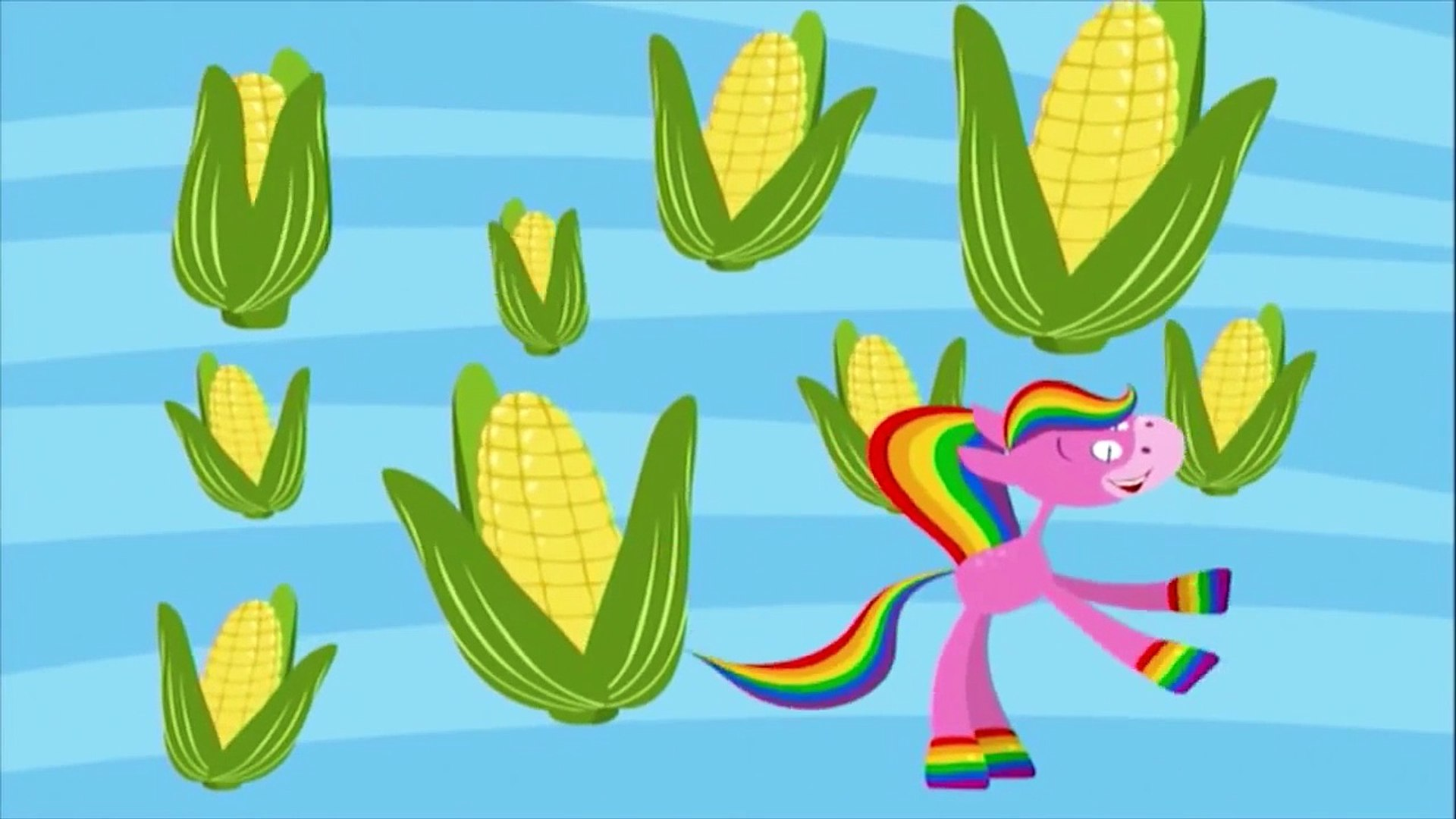 Цвета для детей, развивающий мультик Лошадка радуга учим цвета: овощи