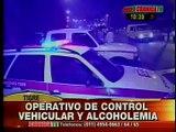 Crónica TV - Operativo vehicular y alcoholemia en Tigre