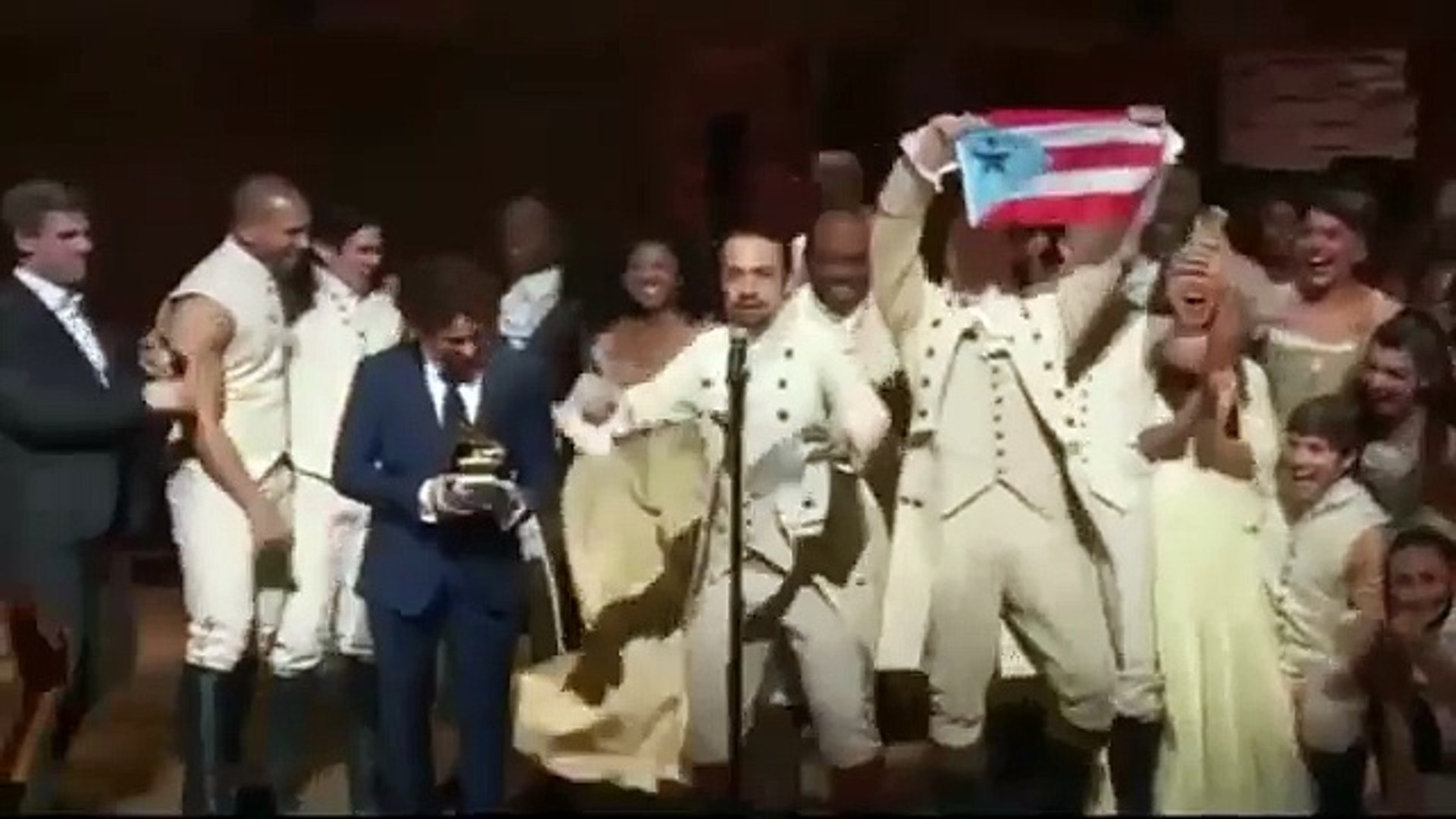 What An Acceptance Speech by Hamilton Star Lin Manuel Miranda in Grammy Awards 2016