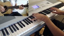 Coldplay Strawberry Swing Cover Piano Guitar Video