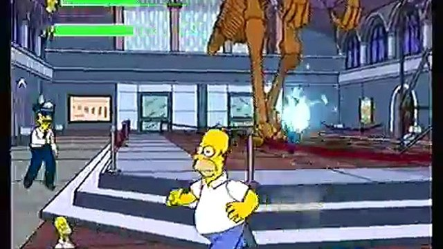 Lets Play The Simpsons Game part 2 - Homers Obesity