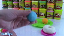 Play Doh Rainbow Donuts! How to make Play Doh Donuts! Fun for Kids