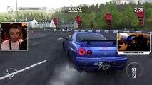 SKYLINE GTR R34 HARDCORE DRIFTING - WHEEL CAM!   DRIVECLUB Gameplay w  The Nobeds