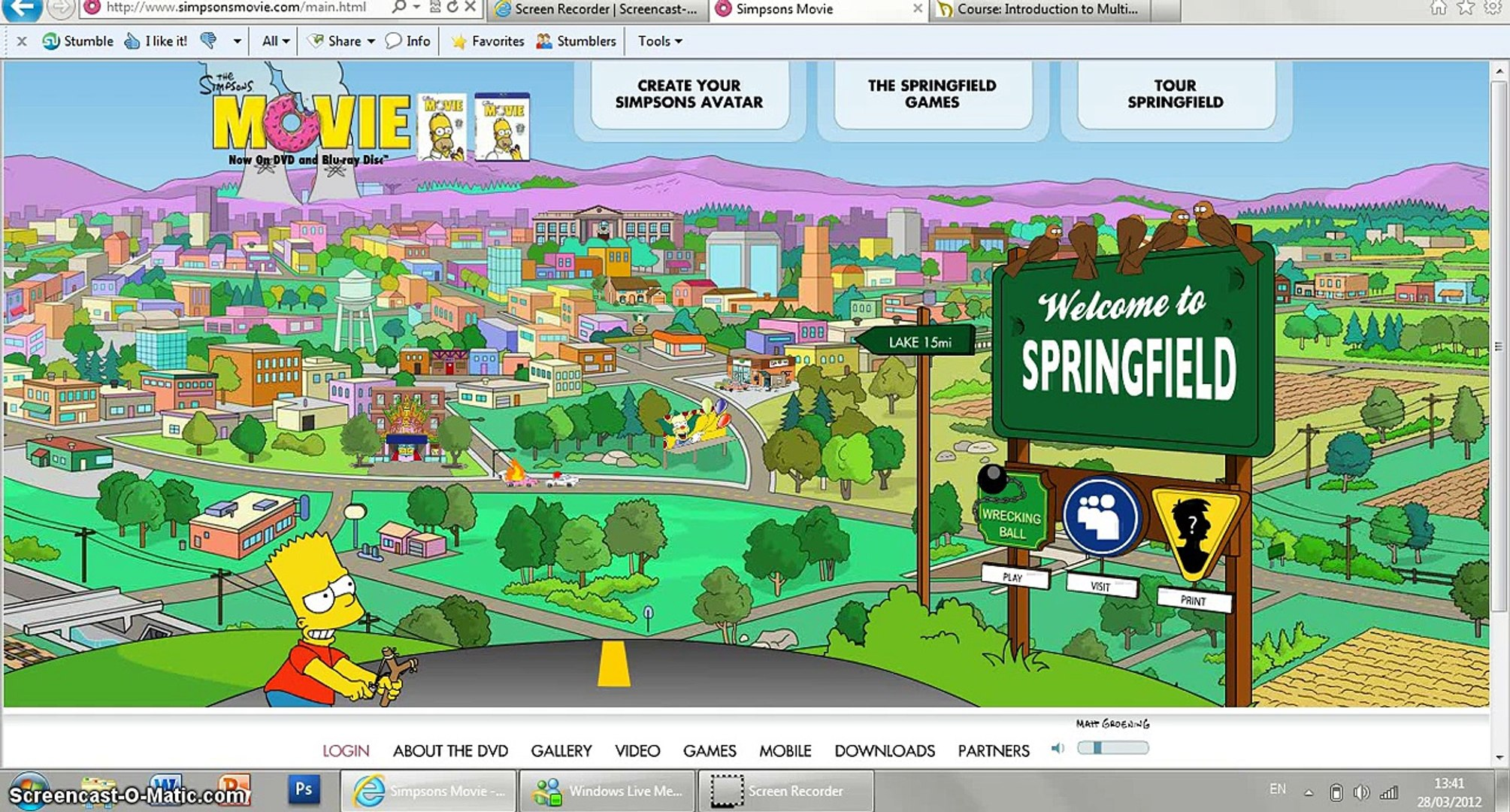 The Simpsons Movie Website Review Video Dailymotion