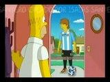 Simpsons mit L.Messi C.ronaldo und Ronaldo