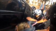 Biker Saves Girl From Overturned Car