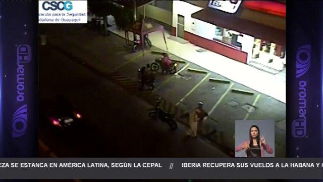 Cámaras de seguridad captan balacera en el sur de Guayaquil