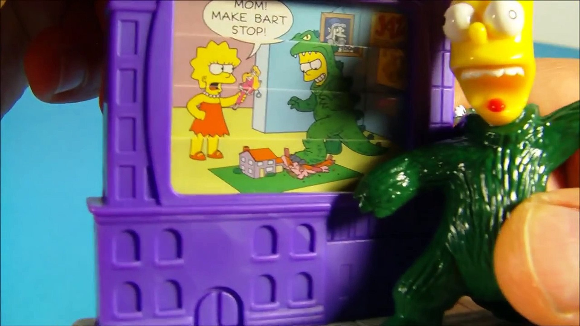 2002 THE SIMPSONS CREEPY CLASSICS SET OF 10 BURGER KING KIDS MEAL TOYS VIDEO REVIEW