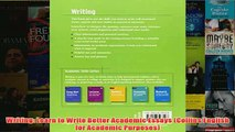 Writing  Learn to Write Better Academic Essays (Collins English for Academic Purposes)