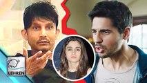 Sidharth Malhotra INSULTS KRK For Alia Bhatt