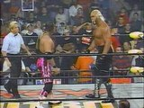 Hollywood Hogan vs. Bret Hart / Sting WCW MONDAY NITRO 28.09.1998