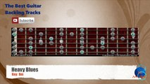 Heavy Blues Bm Guitar Backing Track with scale chart
