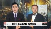 'Spotlight' wins Oscars at 88th Academy Awards
