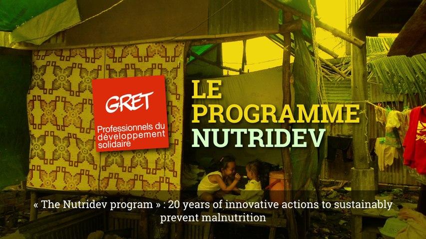 Le programme Nutridev - The Nutridev programme