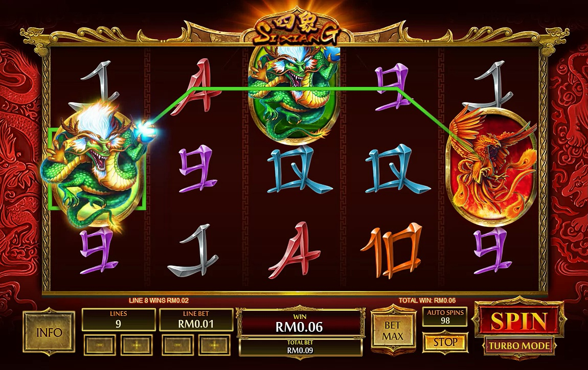 Mega Win with Si Xiang Online Slot Game | Bigchoysun.com Online Live Casino Malaysia