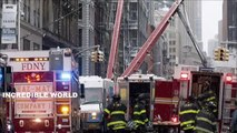 Mobile Footage Shows Crane COLLAPSE During Snow Storm In TriBeca Lower Manhattan New York City!!!!