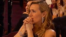 Kate Winslet In Tears As Leonardo DiCaprio Wins For Best Actor