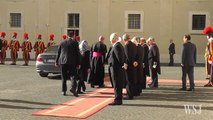Pope Francis Welcomes Iranian President to Vatican