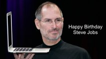 Happy Birthday to the inventor & former CEO of Apple Inc, Steve Jobs
