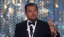Leonardo DiCaprio Wins His First Oscar for 'The Revenant' - 2016