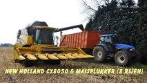 Loonwerk Neyt Van Laere New Holland CX8050 mais dorsen
