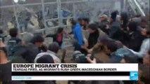 Europe migrant crisis: Teargas fired, as migrants rush Greek-Macedonian border