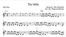 The Weeknd The Hills (Saxophone Sheet Music)
