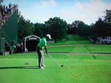 Tiger Woods Drives the Par 4 14th at Oak Hill 2013 PGA Championship