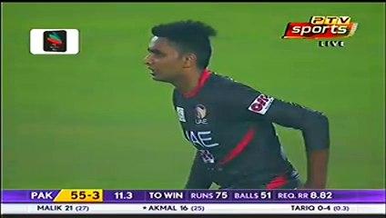 watch Umar Akmal nails down UAE with 50*