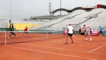 Tennis : quand Noah et Pioline gagnent contre Monfils et Gasquet