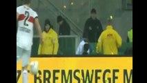 Crazy Dortmund Fans Protest Soccer Dortmund vs Stuttgart (VIDEO) Fans Throw Tennis Balls