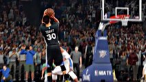 Relive Stephen Curry's Bonkers 3 Against Thunder on NBA 2K16