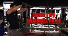 Vücut Geliştirme Hareketleri - Front Two Dumbbell Raise