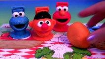 Cookie Monster Hand Puppets Play Doh - How to Make Playdough Sesame Street Elmo Ernie